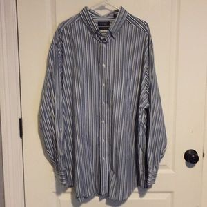 Roundtree & Yorke Striped Dress Shirt 3XLT